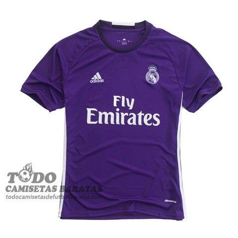 segunda camiseta de futbol baratas tailandia Real Madrid 2017