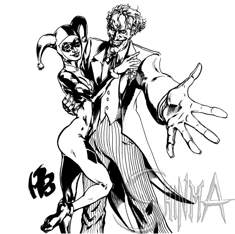 joker and harley queen by matiassoto on deviantart