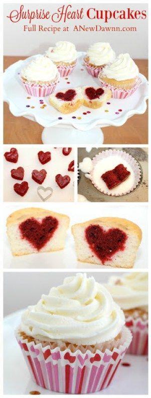 Cupcake Herzen Fur Valentinstagfeiern Susse Leckereien Fur Den V Day