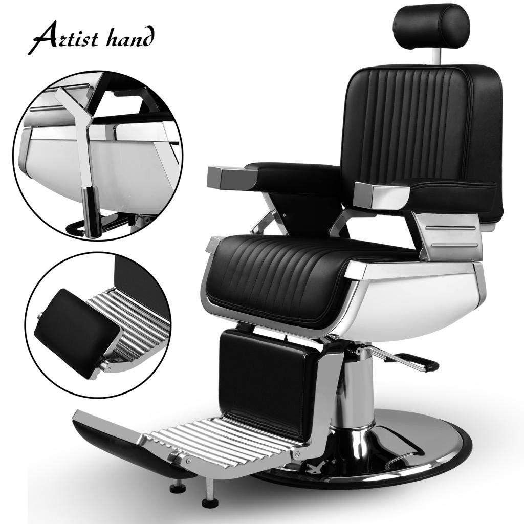 Artist hand heavy duty hydraulic recline barber chair