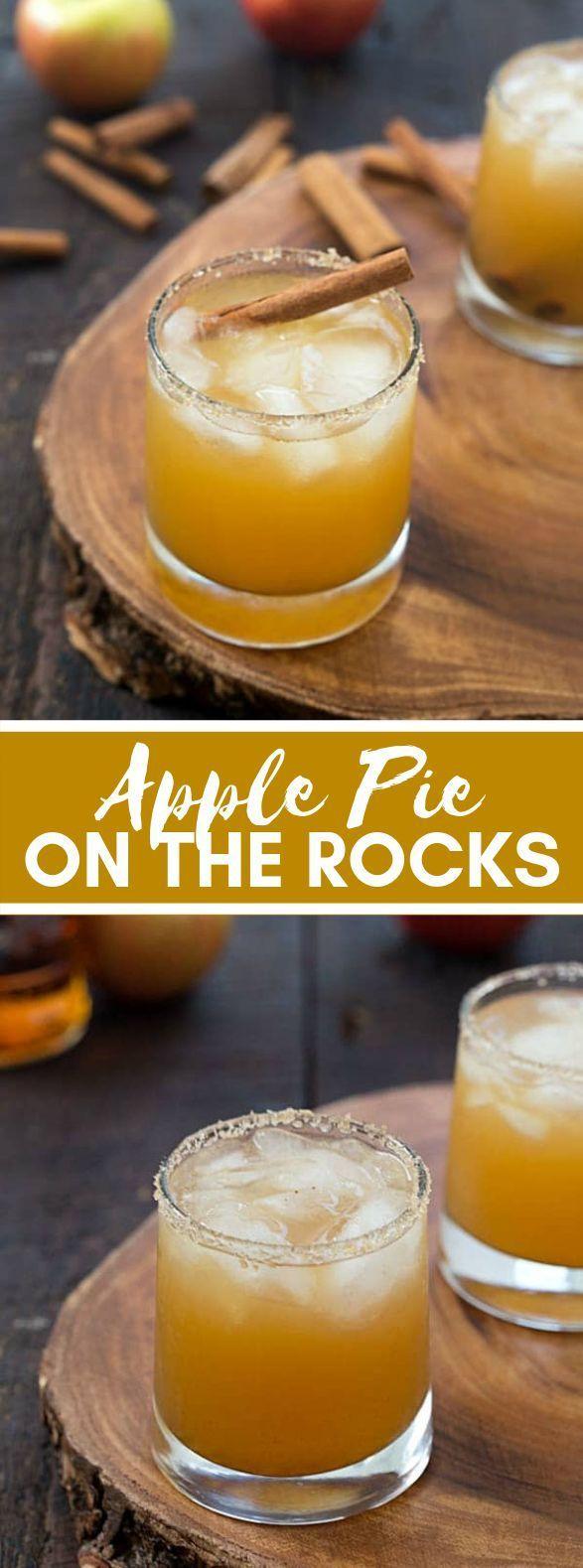 Apple pie on the Rocks | Holiday Drinks thanksgiving #thanksgiving #christmas #drinks #apple #cocktails