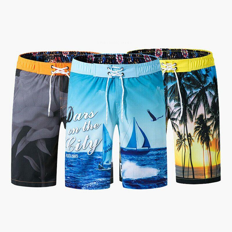Summer Mens Surf Board Shorts Swimming Beachwear Trunks Swimwear Beach Pants