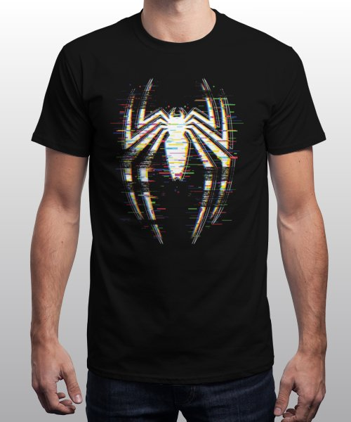 """Spidey-Glitch"" is today's £9/€11/$12 tee for 24 hours only on Pin this for a… 