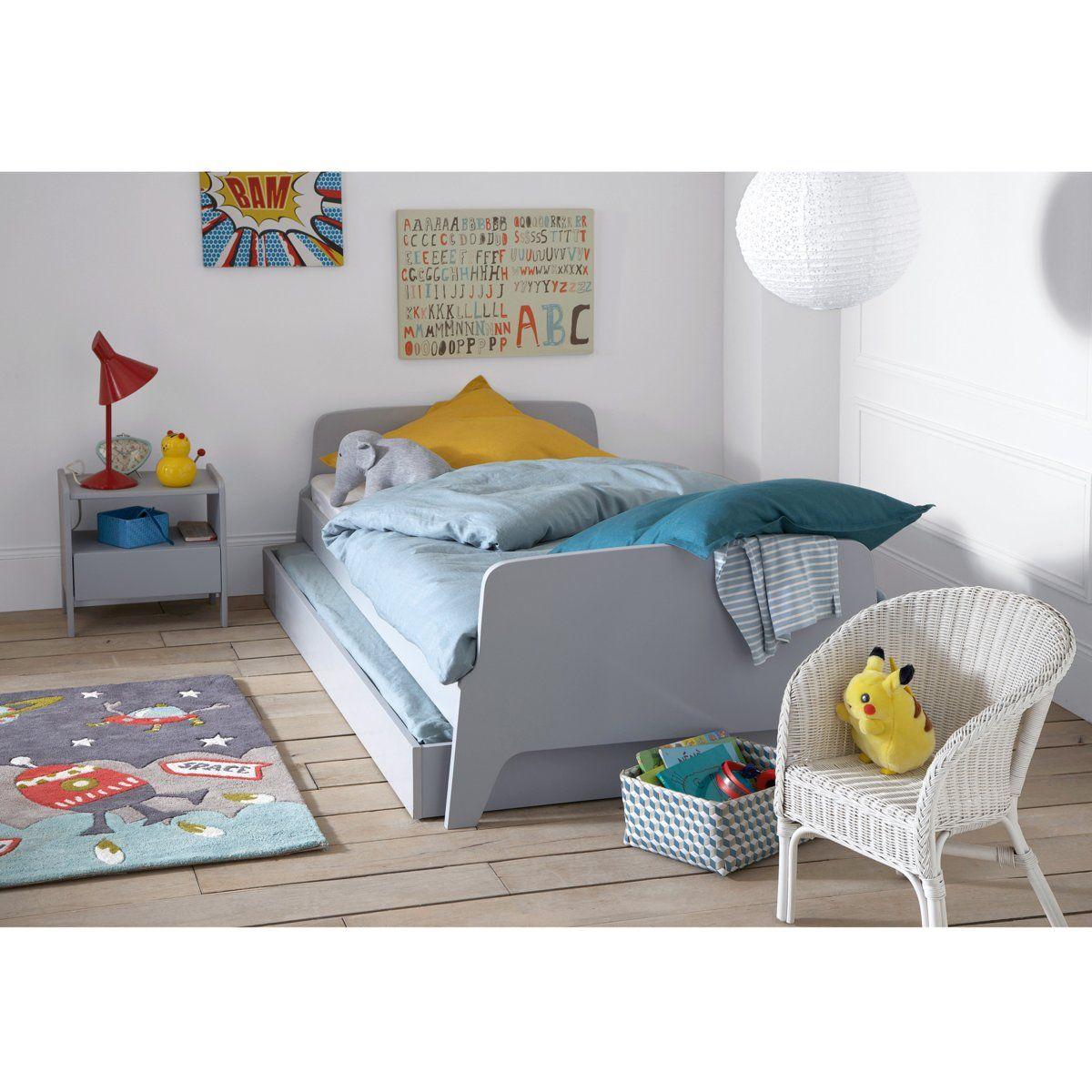 Tiroir Lit Style Retro Vintage 1 Personne Adil Idees De Lit Decoration Chambre Enfant Style Retro