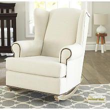 Gliding Nursery Chair shermag deluxe mckinley glider rocker driftwood finish/beige