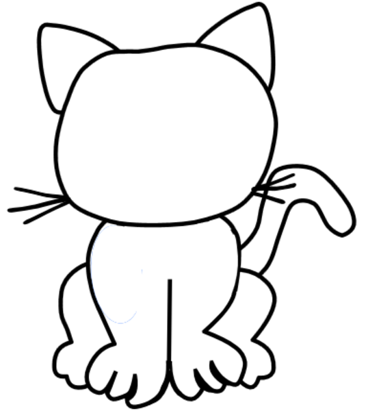 printable cat face coloring pages - photo#14