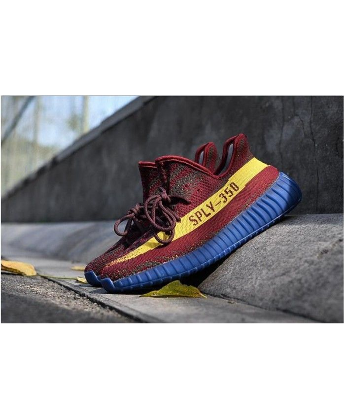 5831241d87a3e9 Adidas Yeezy Boost 350 V2 Red Royal Blue Trainers Sale UK