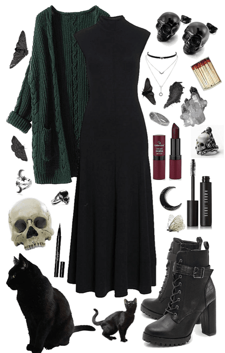 witch shoplook outfits io outfit casual dark halloween