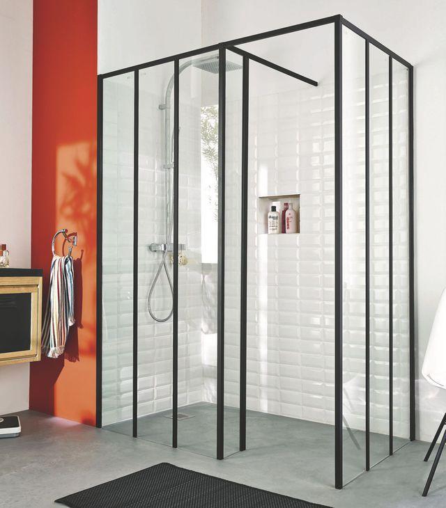 verrire atelier deux modles par lapeyre et castorama ct maison douche italiennesalle de bain - Verriere Salle De Bain Lapeyre