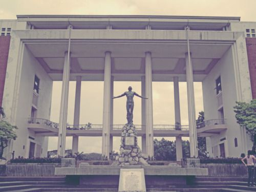 The Oblation Statue, the symbol of academic excellence.