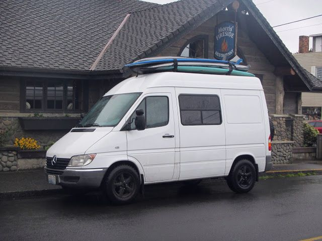 Surfing Sprinter Near Cannon Beach Oregon T1n High Roof 118 Wheelbase Sprinter Camper Van With Sprinter Camper Diy Sprinter Camper Travel Trailers For Sale