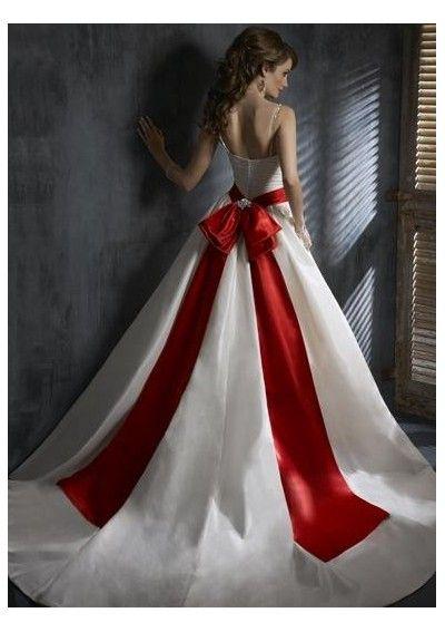 61f5341f9881 White Wedding Dresses, Wedding Dress With Red, Christmas Wedding Dresses,  Colored Wedding Dress