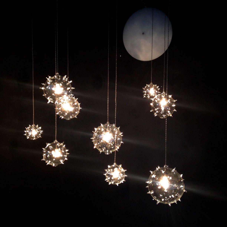 Blown glass. Italian craftsmanship. Creative lighting.