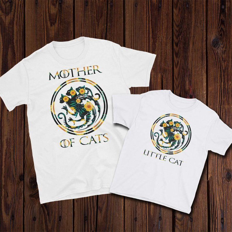 ThronesEtsy Shirt T Cats Flower Mother Game Of 7YvIbfy6g