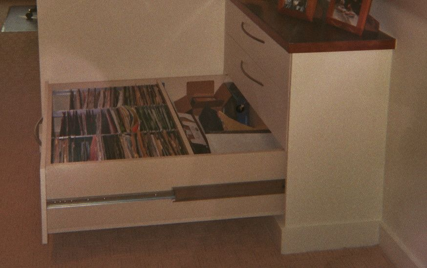 These drawers provided great storage (while they were deep they used the space in the knee wall as part of their space).