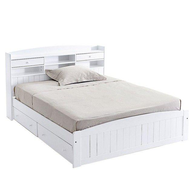 luxe of cadre de lit avec rangement lit et armoires. Black Bedroom Furniture Sets. Home Design Ideas