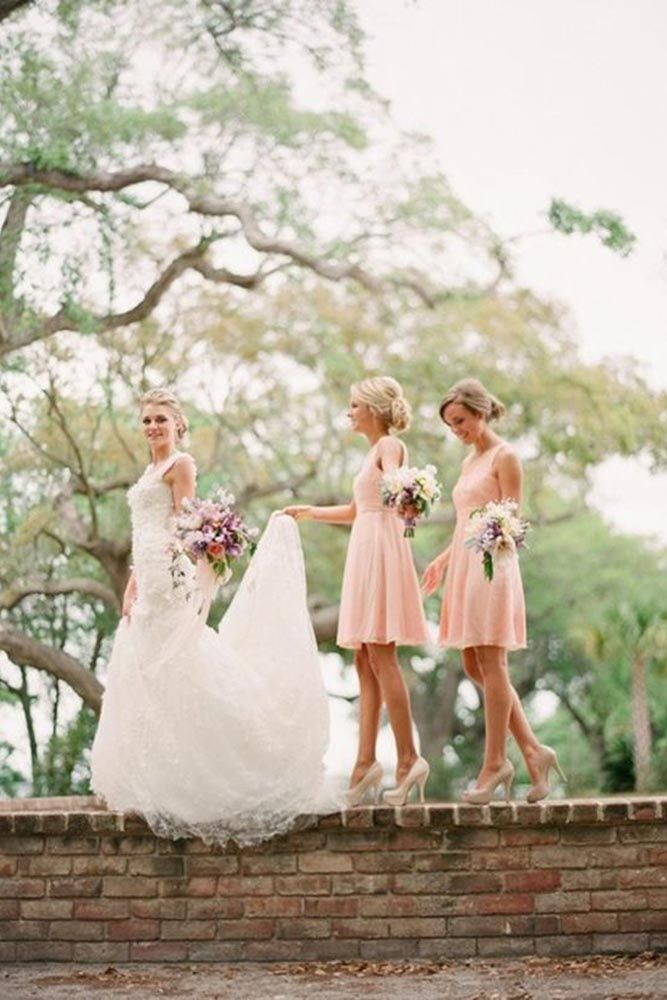 Bridal photos with bridesmaids 50+ best outfits - fall wedding  - cuteweddingideas.com