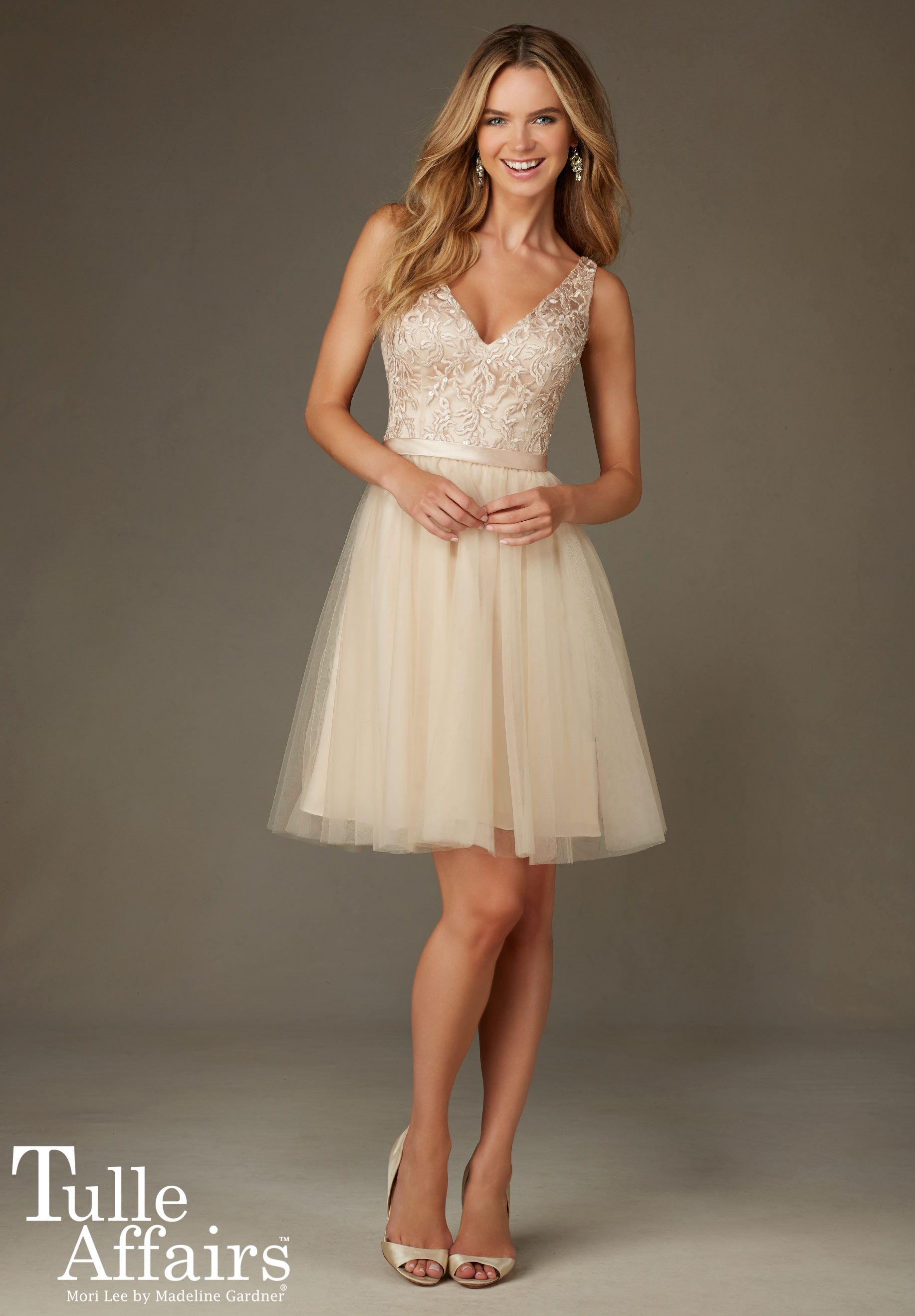 Mori lee style no hair pinterest mori lee tulle dress and