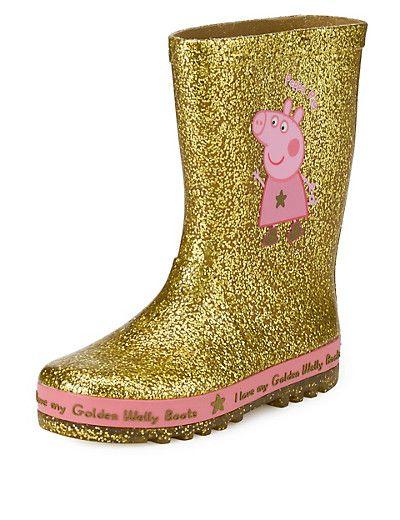 Peppa Pig™ Glitter Welly Boots | M\u0026S