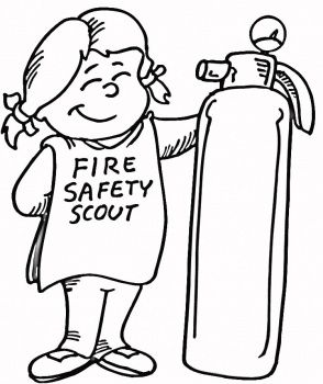 Fire Safety Respect Authority Girl Scouts Coloring Sheet Daisy
