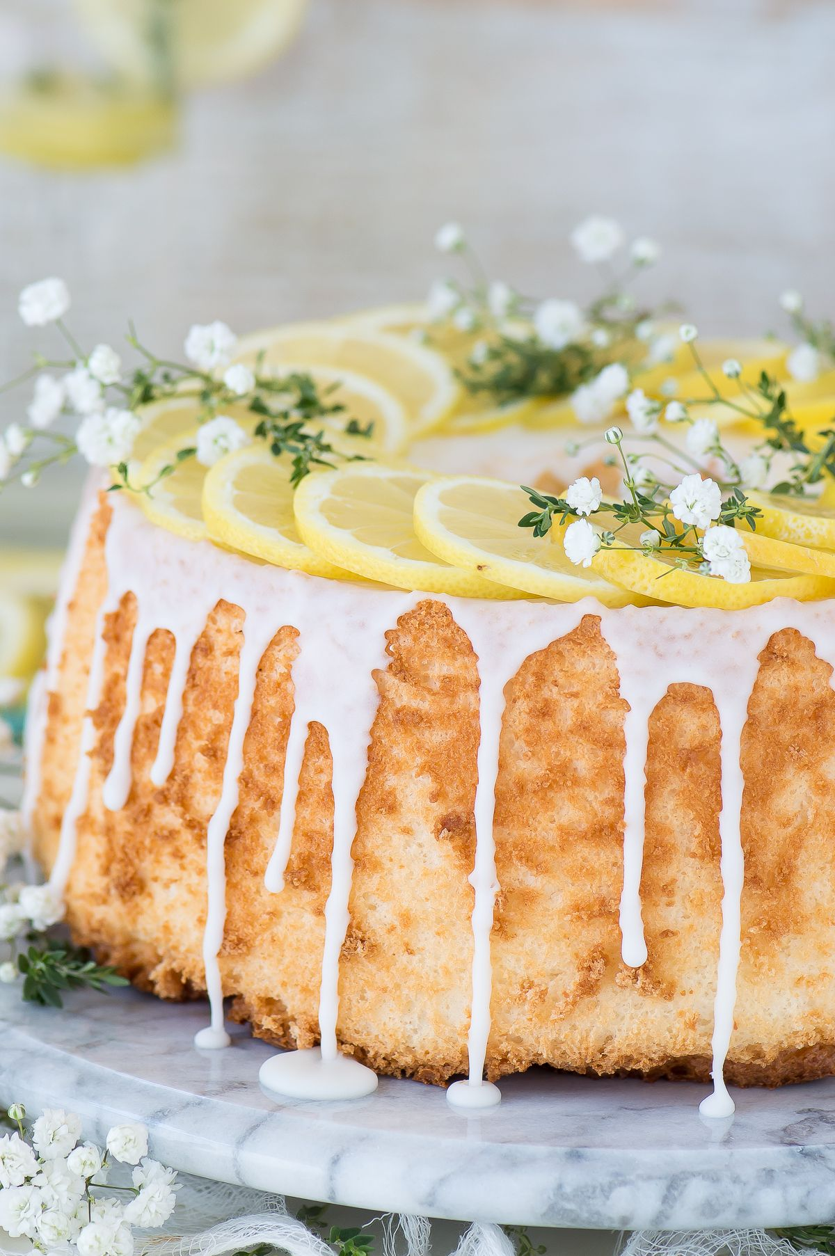 Easy and rustic lemon angel food cake that begins with a box mix easy and rustic lemon angel food cake that begins with a box mix forumfinder Choice Image