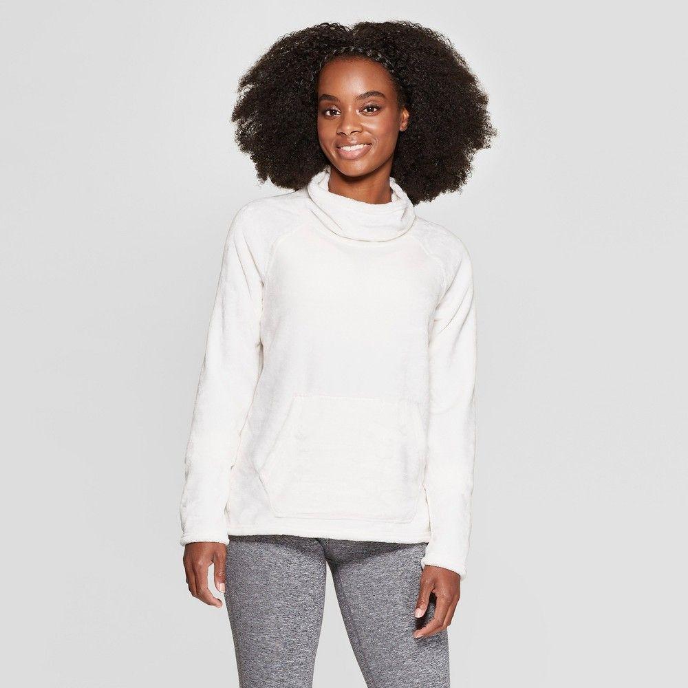 Women S Luxe Fleece Pullover C9 Champion Pale Petal Pink Xxl Fleece Pullover C9 Champion Long Sleeve Workout [ 1000 x 1000 Pixel ]