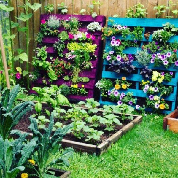 palette | garden | pinterest | gartendeko, holzpaletten und ideen ... - Gartendeko Selber Bauen