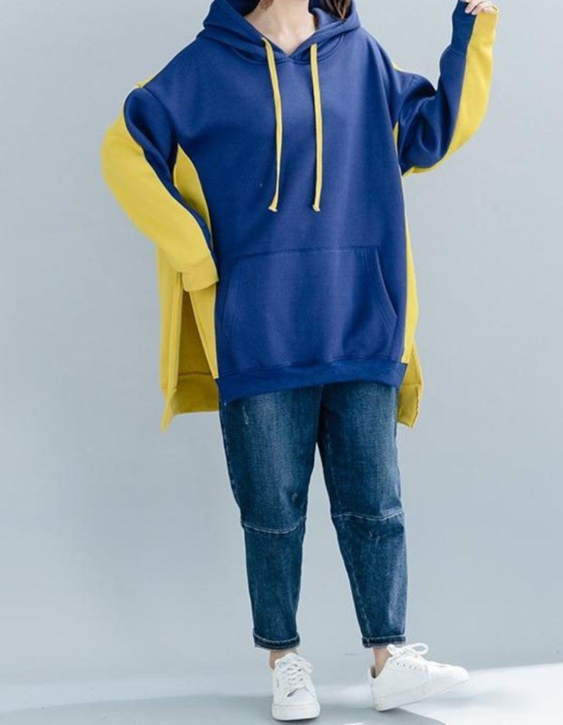 8594cee1dd9 MOO Oversized Hoodie with Split Sides in 2 colours