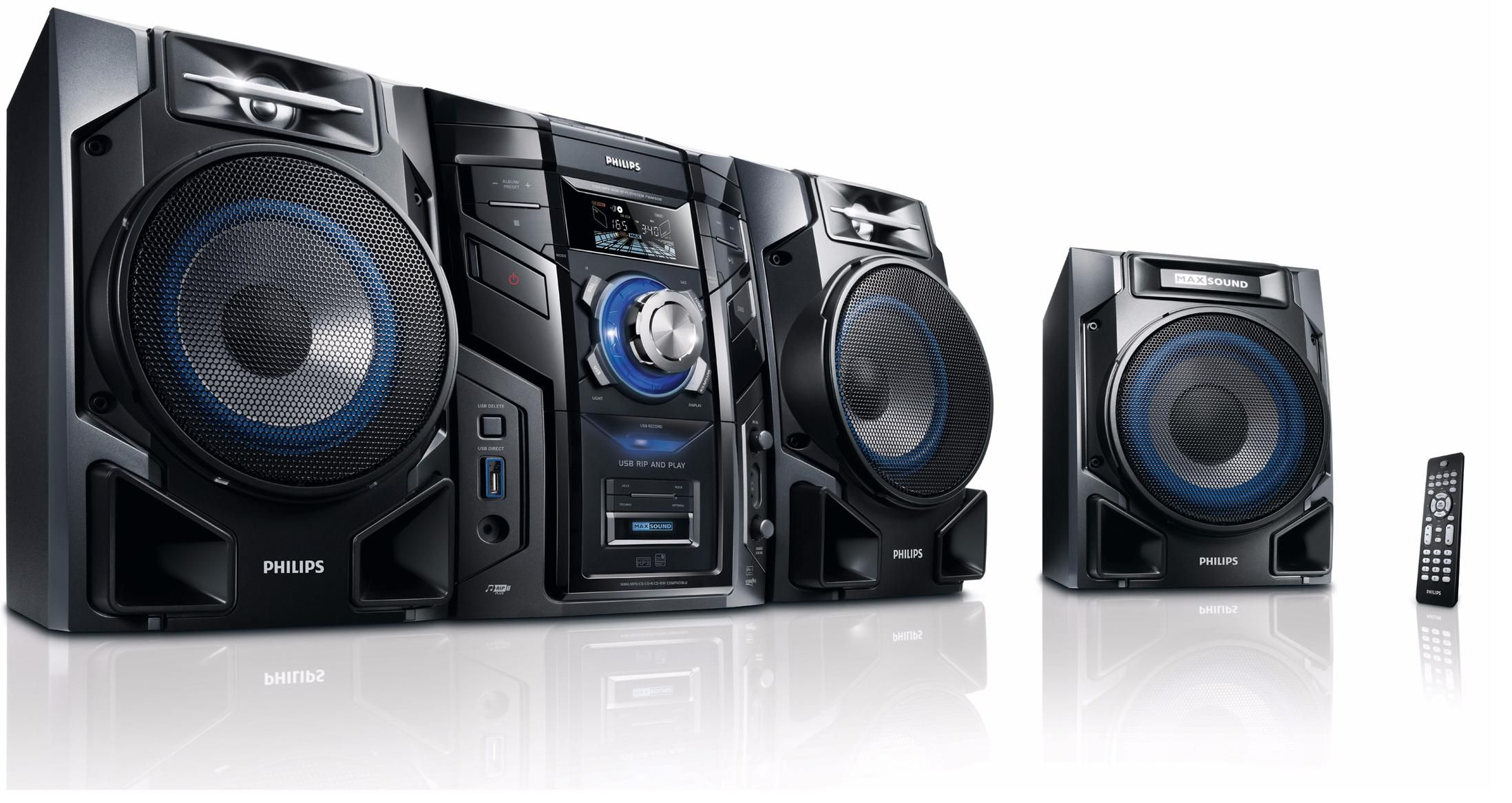 PHILIPS FWM608/12 MINI HiFi SYSTEM 600W SUBWOOFER NEW
