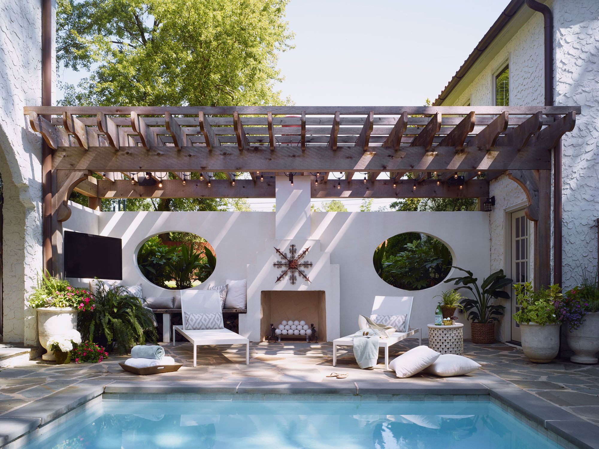 Pool Aus Paletten Viereckig Spanish Colonial Pool Terrace Pool Deck Outdoor