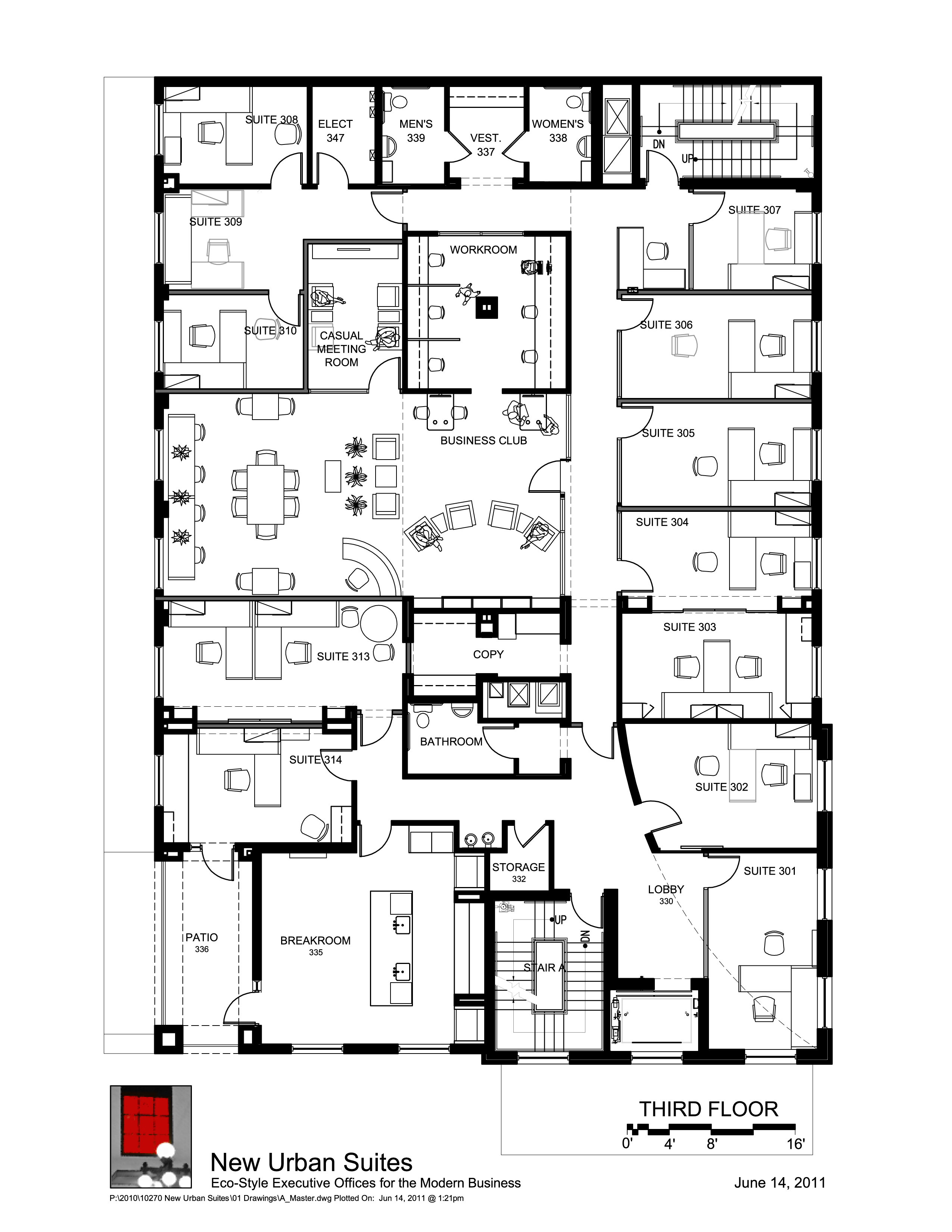 Our 3rd floor office floor plans are totally different