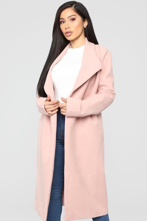 7885a224ef91 Kamela Coat - Blush | •FashionNova• | Maxi coat, Coat, Fashion