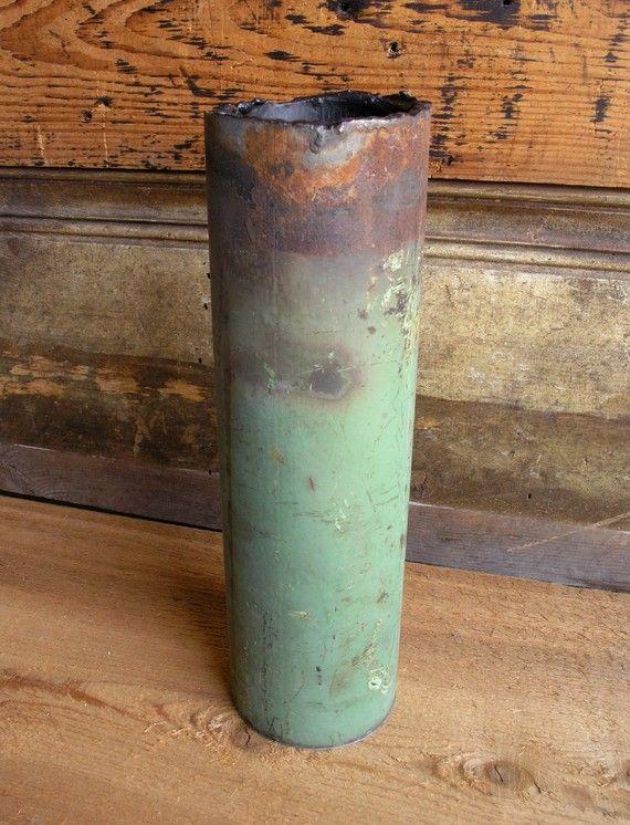 Reclaimed pipe vase.