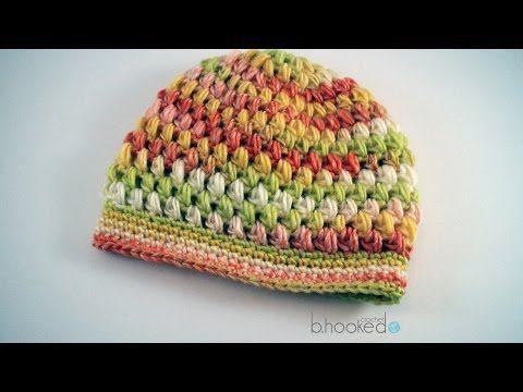Puff Stitch Hat - Free Crochet Pattern - B.hooked Crochet  7e6b03324ac