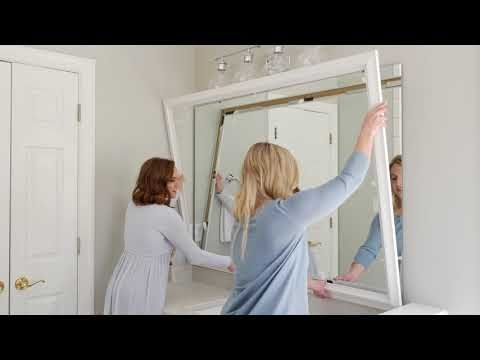 Frame a bathroom mirror in minutes with MirrorMate\u0027s custom mirror