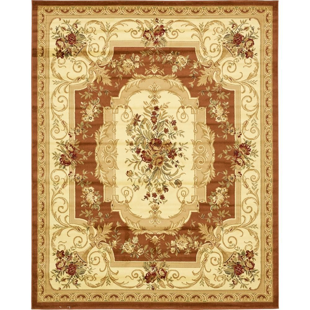 Traditional Versailles Redrugs Unique Loom Floral Area Rugs