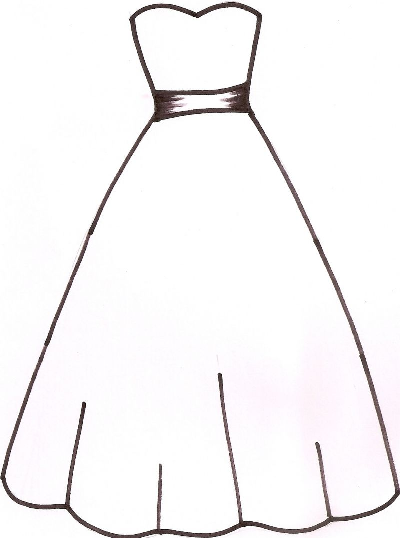 99 Wedding Dress Outline Women S Dresses For Wedding Guest Check More At Http Svesty Com Wed Dress Templates Wedding Coloring Pages Wedding Dress Template