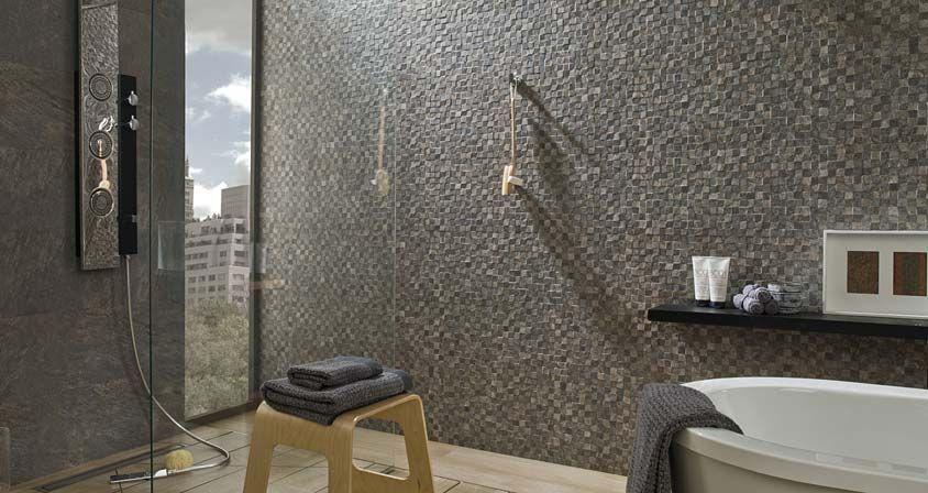 Revestimiento cer mico arizona antracita mosaico for Mosaico ceramico exterior