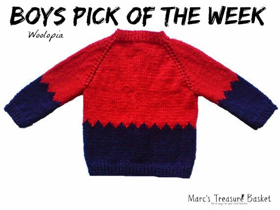 Boys Pick of the Week - Hand knitted Baby Cardigan