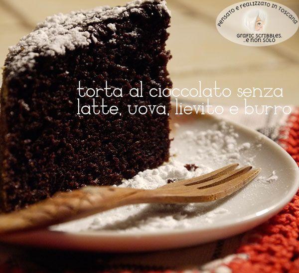 Torta al cioccolato senza lievito, latte, burro, uova...leggerissima! http://graficscribbles.blogspot.it/2015/10/torta-al-cioccolato-senza-lievito-latte.html #tortaalcioccolato #ricettelight