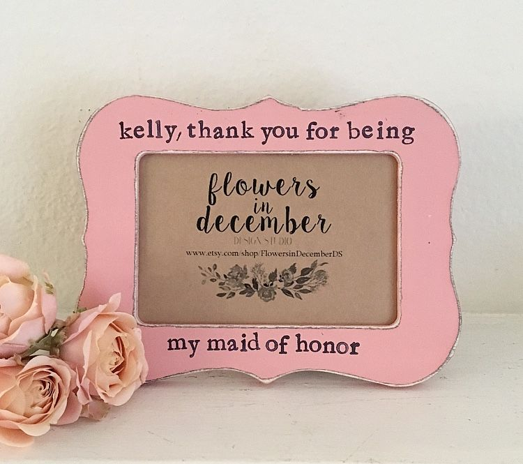 Maid Of Honor Picture Frame, Gift For Maid Of Honor