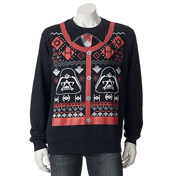 Star Wars Darth Vader Ugly Christmas Sweater Cardigan Print Pour