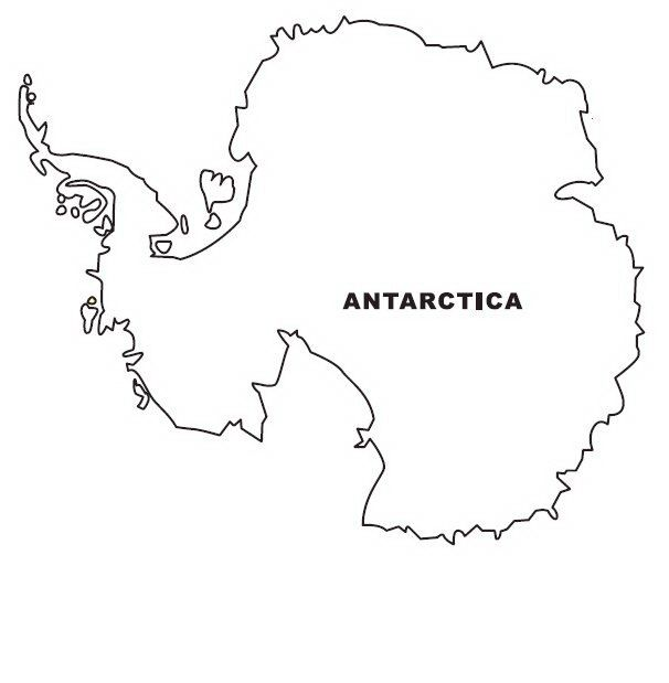 Antarctica Map Coloring Page Preschool Art Coloring Pages