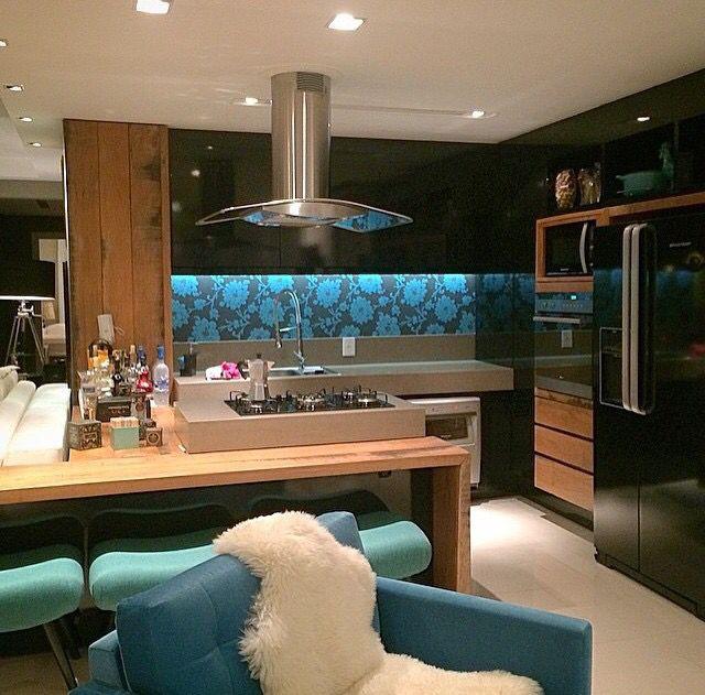 Cozinha com ponto de cor