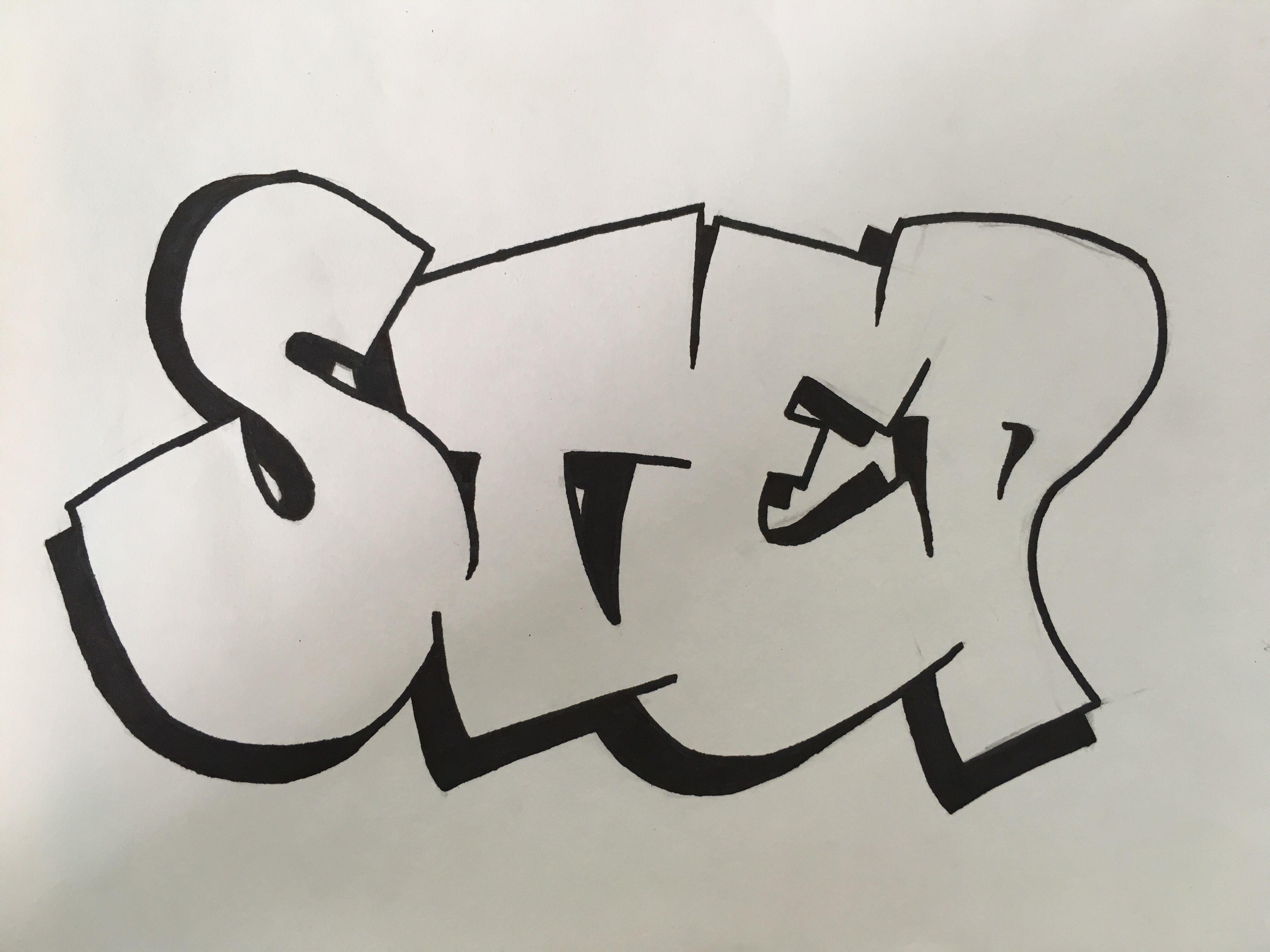 нет фотки граффити на листочке его стоит списывать