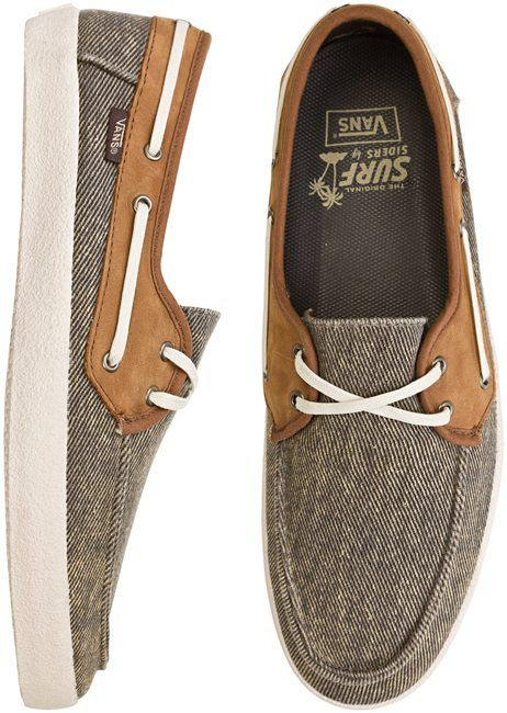 vans deck shoes men