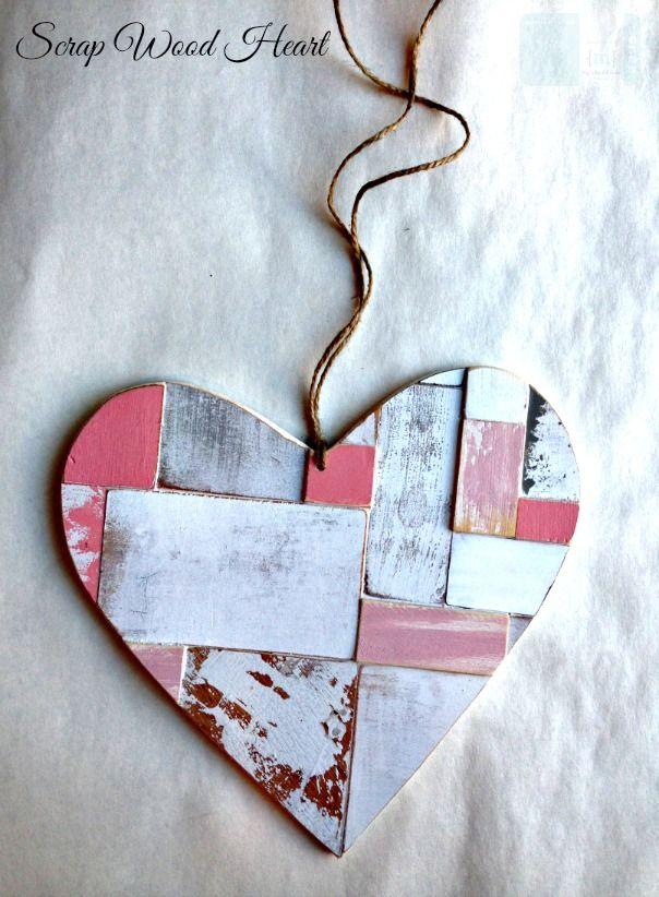 Diy Valentines Hearts Featuring Tatertots And Jello And My Altered State Diy Valentine S Hearts Scrap Wood Art Valentines Diy