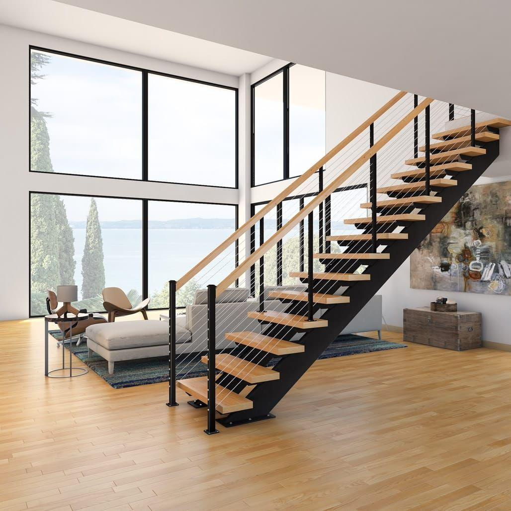 The Lonsdale (Double Stringer Straight Stairs) | Paragon Stairs