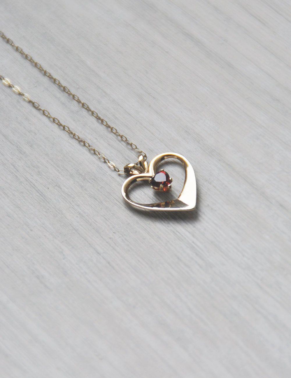 Vintage gold filled open heart necklace garnet january birthstone vintage gold filled open heart necklace garnet january birthstone 14k gf ppc princess pride aloadofball Gallery
