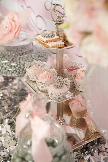 Hostess with the Mostess® - Silver and Pink Wedding Table